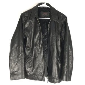 Luis Alvear leather jacket full zip black men's M